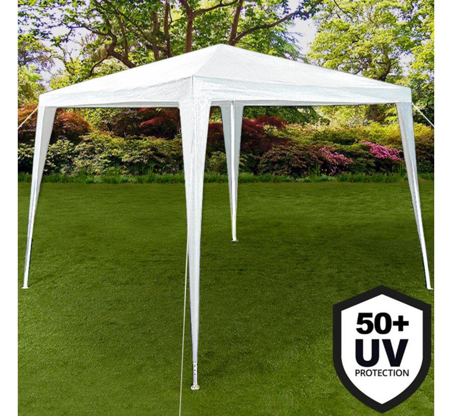 Deuba Paviljoen Wit 3x3m + UV-bescherming 50+