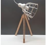Excellent Houseware Lamp metaal met hout 17x50cm