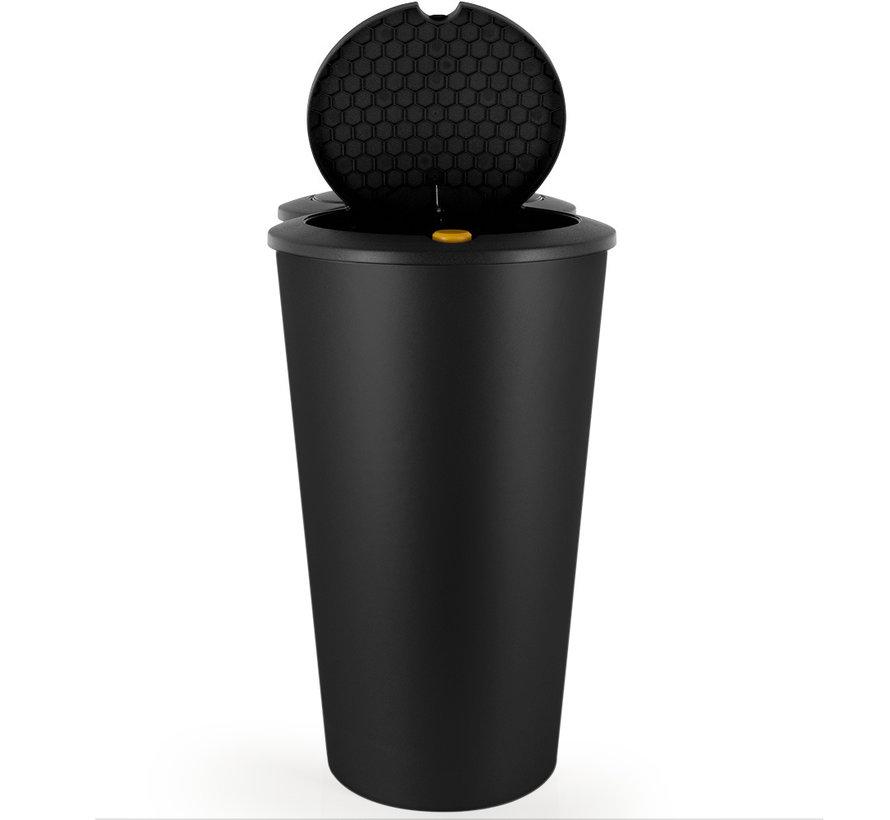 Deuba Dubbele afvalbak voor het scheiden van afval - zwarte kunststof 2x25L