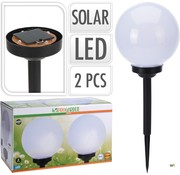 Nampook Nampook Solar tuinlamp Set van 2 - 20cm - Op Zonne-energie
