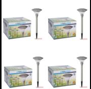 ProGarden 4x Progarden Solar Tuinlamp Set van 4 - 47cm (Gaat automatisch aan)