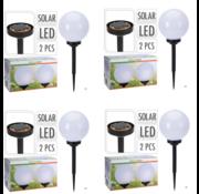 Nampook 4x Nampook Solar tuinlamp Set van 2 - 20cm - Op Zonne-energie