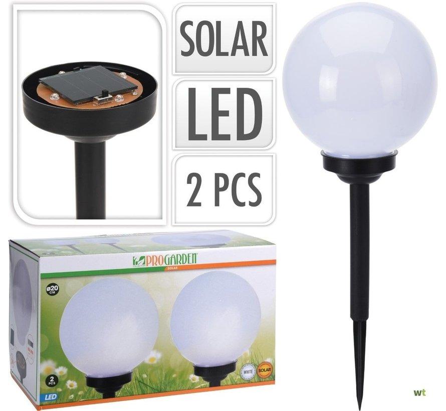 4x Nampook Solar tuinlamp Set van 2 - 20cm - Op Zonne-energie