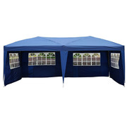 Outsunny Outsunny Luxe Partytent opvouwbaar tuintent incl. 4 zijpanelen blauw