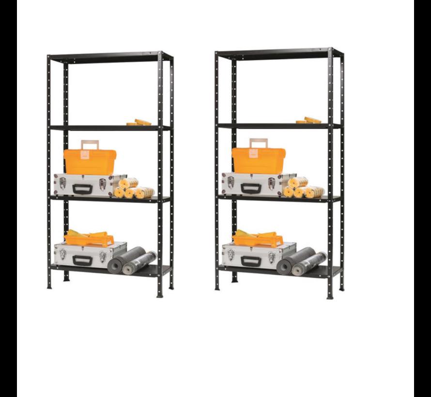 ERRO Opbergrek set van 2 - Zwart 200kg  150 x 73 x 30 Stelling