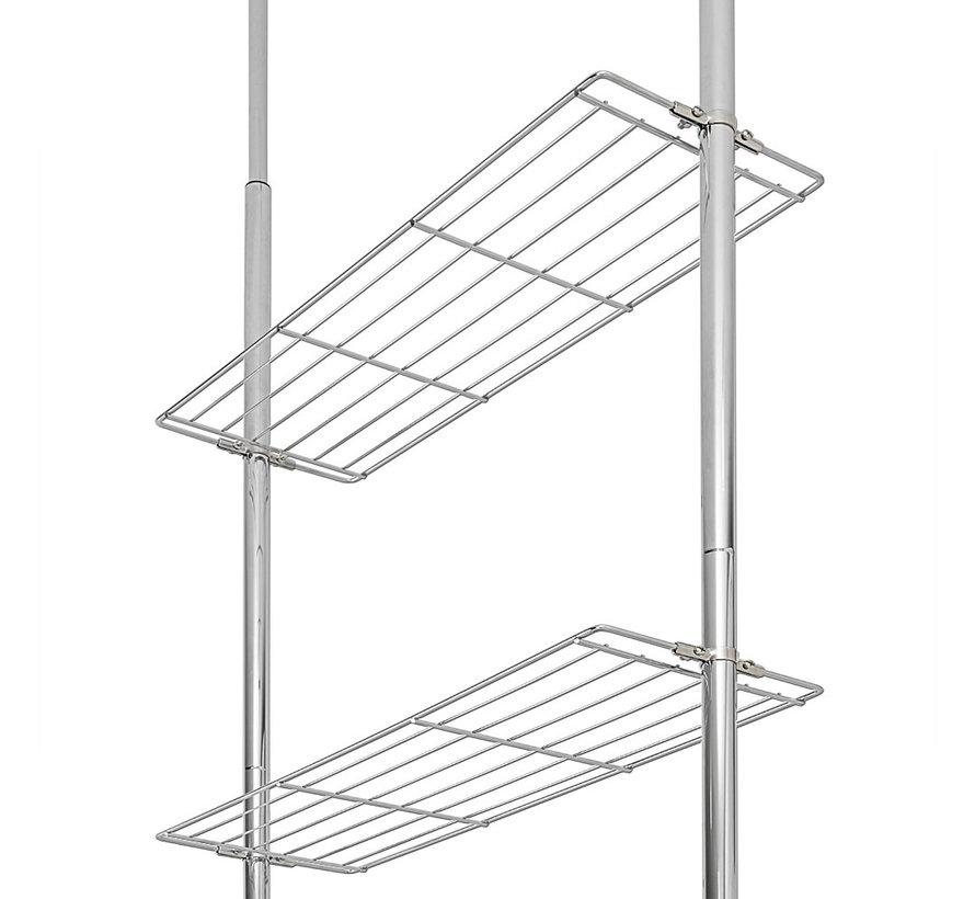 Deuba Badkamerrek 270 cm - In hoogte verstelbaar - Badkamerkast