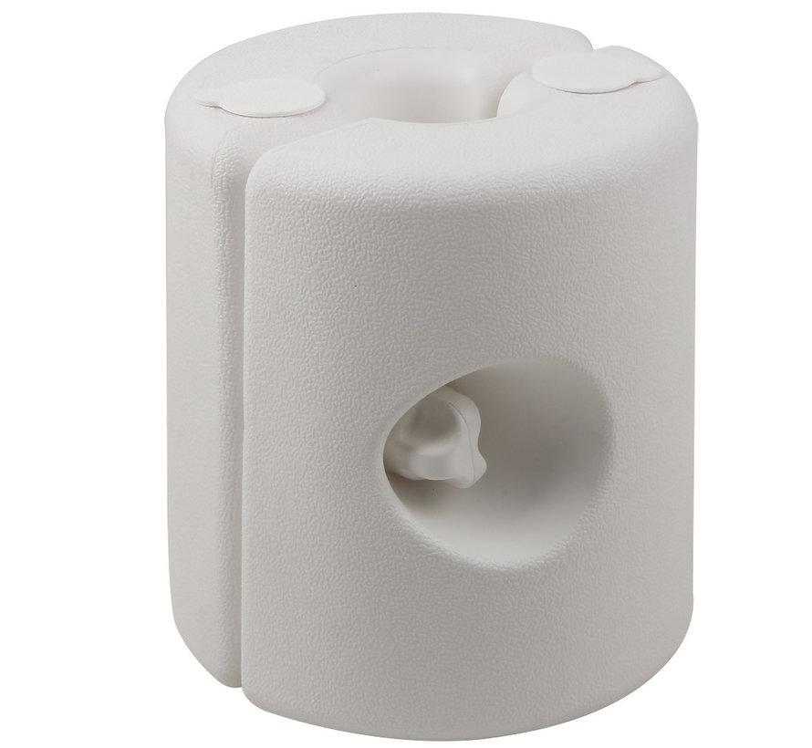 Deuba Paviljoen Stand Bescherming Set van 4 Wit