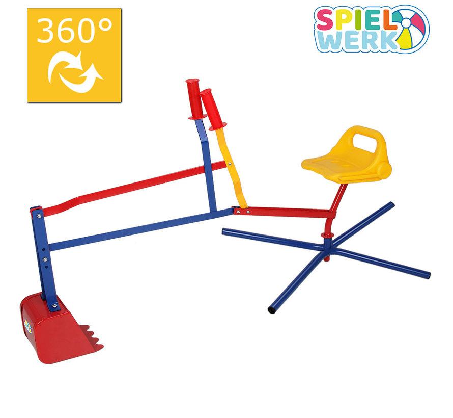 Deuba Zandbak Kinder graafmachine met flexibele graafschop - 360° draaibaar