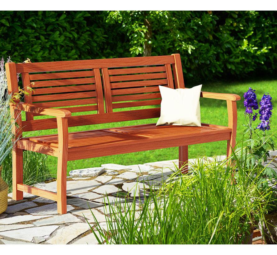 Casaria Tuinbank eucalyptushout 120x60x90cm FSC®-gecertificeerd