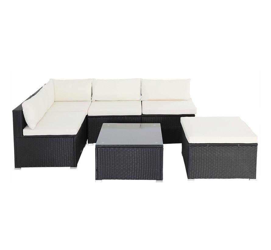 Casaria Polyrotan loungeset 16-delig - Zwart