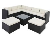 Casaria Casaria Polyrotan XL loungeset 26-delig. Zwart