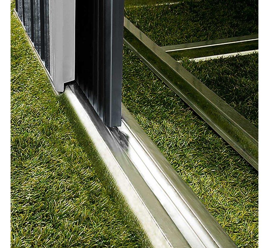 Deuba Tuinhuis antraciet metaal 210x132x186cm