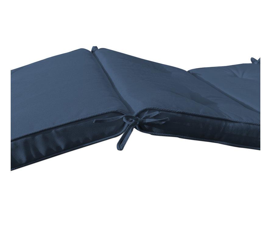 Detex Tuinkussen - Voor Ligbed - Blauw - 193x55x5cm
