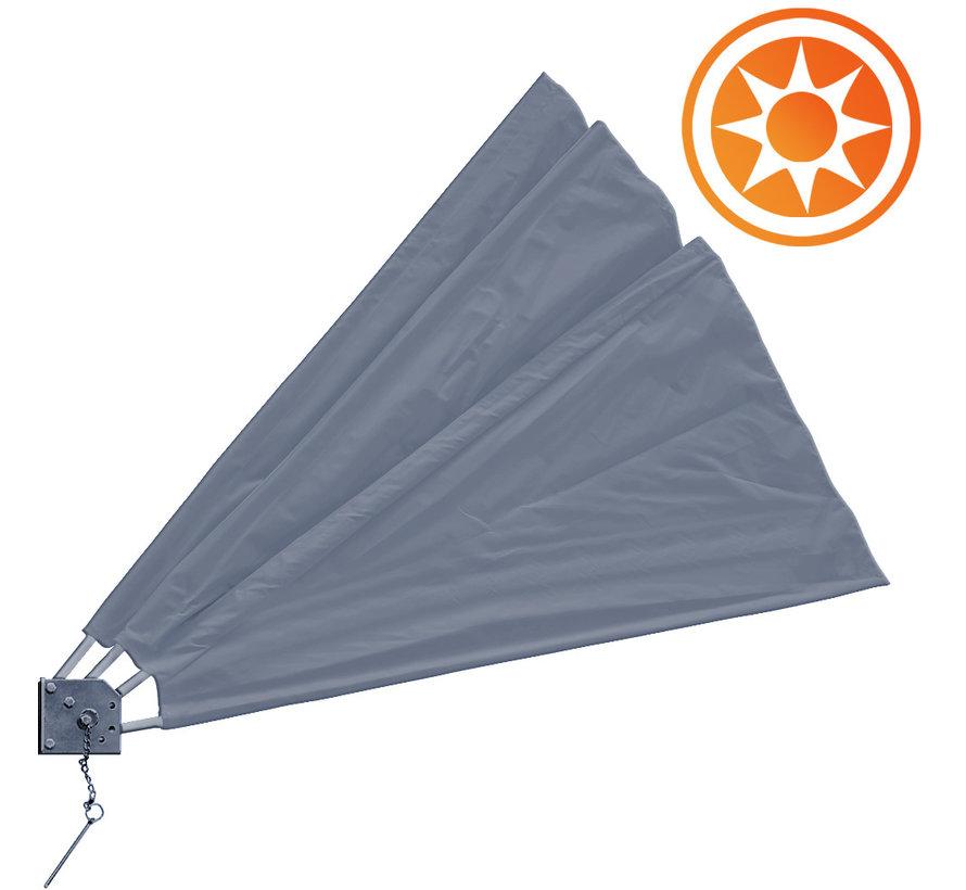 Deuba Zonwering - Opvouwbaar - Antraciet - 140x140cm