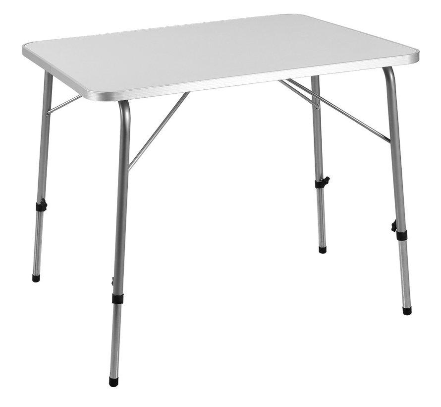 Casaria Tuintafel/ Campingtafel - Inklapbaar - Aluminium - Grijs - 80x60x50/69cm