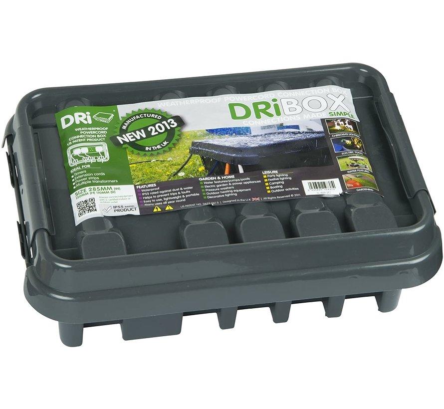 Dribox waterdichte kabelverdeelbox voor buiten - IP55 - 28,5 x 15 x 11 cm - Zwart