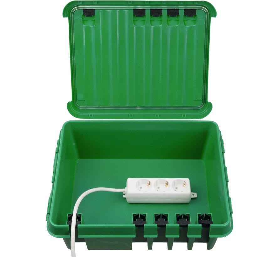 Dribox waterdichte kabelverdeelbox voor buiten - IP55 - 33 x 23 x 14 cm - Groen