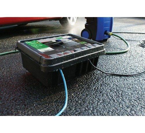 Heitronic Dribox waterdichte kabelverdeelbox voor buiten - IP55 - 33 x 23 x 14 cm - Zwart