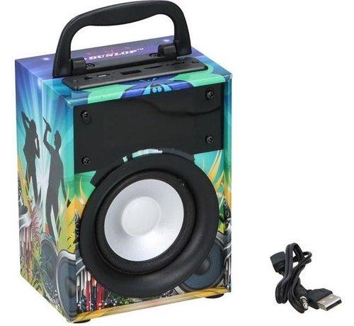 Dunlop Bluetooth speaker - Luidspreker BT led Dunlop - draagbaar