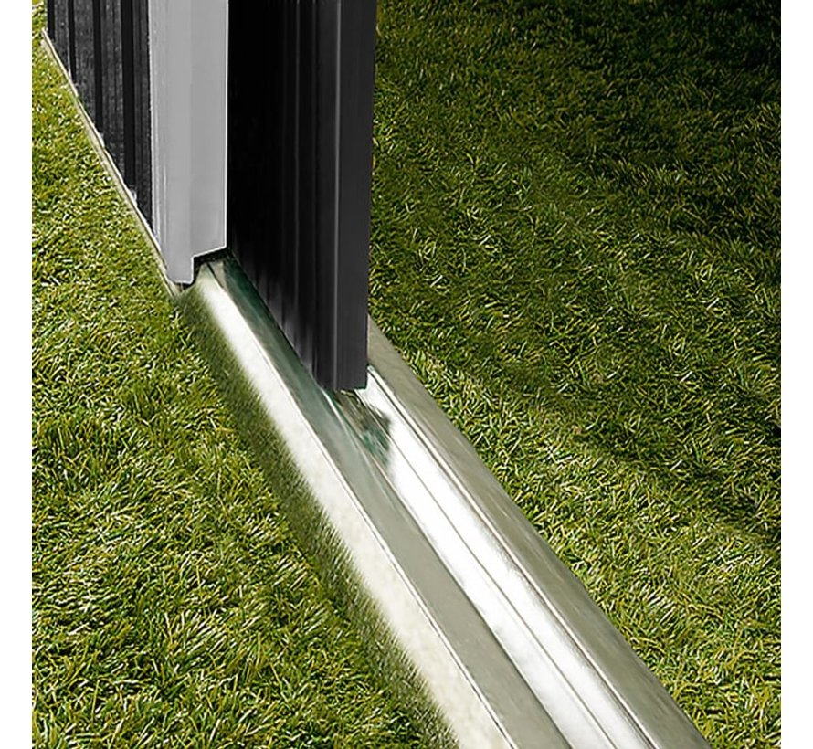 Gardebruk tuinschuur opslag antraciet metaal 181x162x86cm