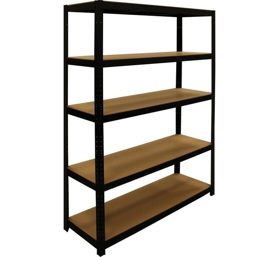 ERRO Metalen Opbergrek/Stellingkast met 5 legborden - 875kg draagkracht - (HxBxD) 180x120x40cm - 175kg per plank
