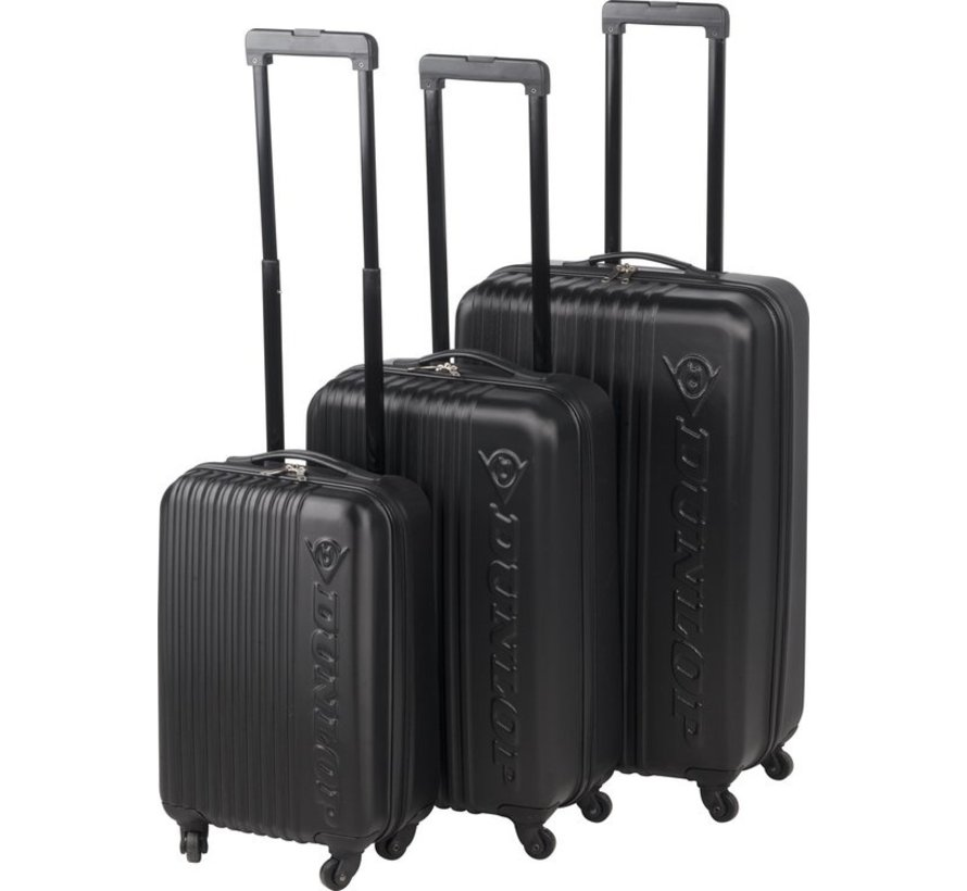 Dunlop Kofferset - 3 Koffers - Lichtgewicht - Zwart
