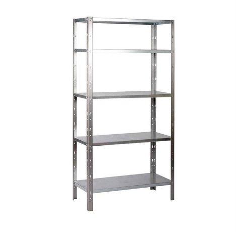 Erro ERRO Metalen Opbergrek/Stellingkast met 5 legborden - 500kg draagkracht - (BxDxH) 100x40x193cm - 100kg per plank
