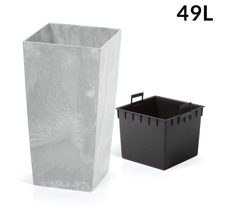 Bloemenpot - Betonstyle -32,5 x 32,5 x 61 cm - Grijs - 49L -