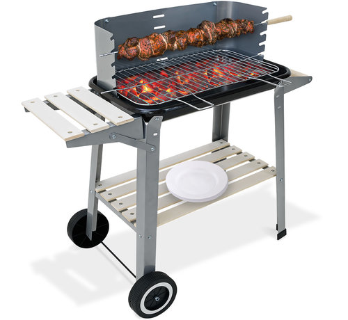 Gardebruk Gardebruk BBQ grill - Met Wielen en Werkblad - 55x35cm