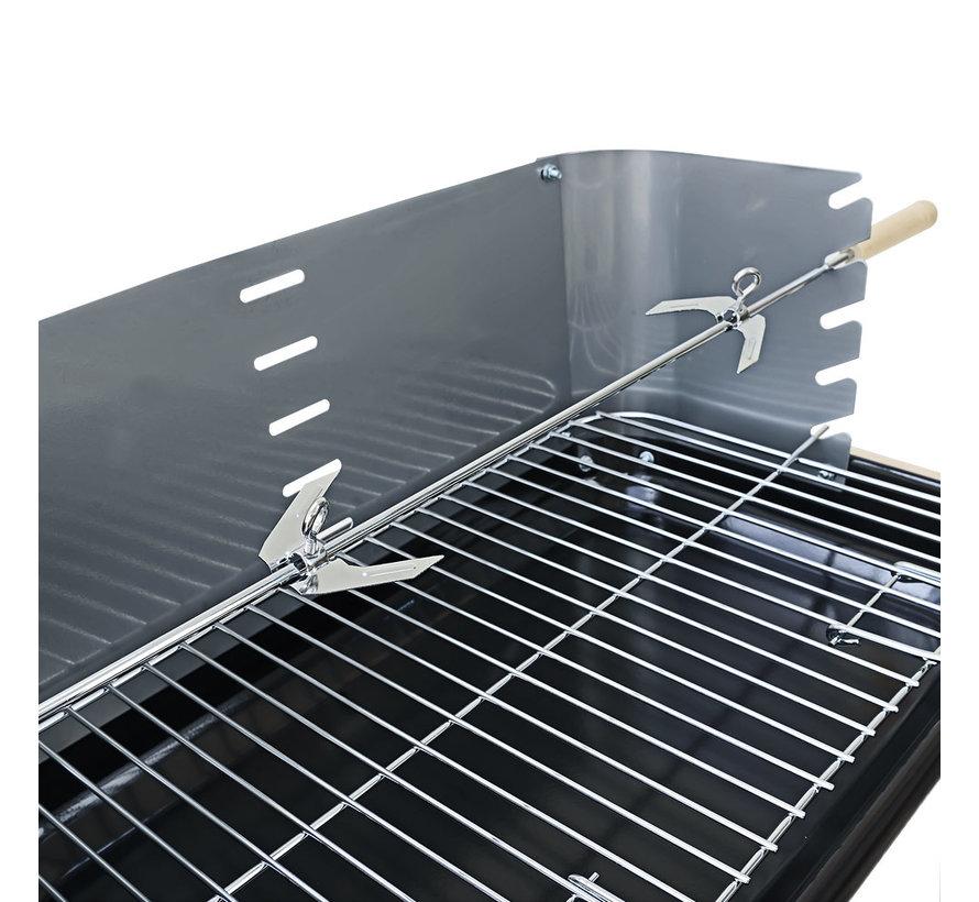 Gardebruk BBQ grill - Met Wielen en Werkblad - 55x35cm