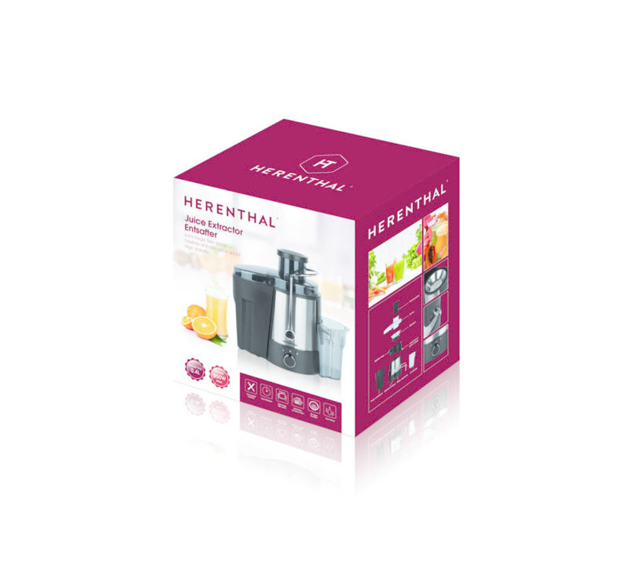 Herenthal Juicer/ Sapcentrifuge/ Powerjuicer - 850W