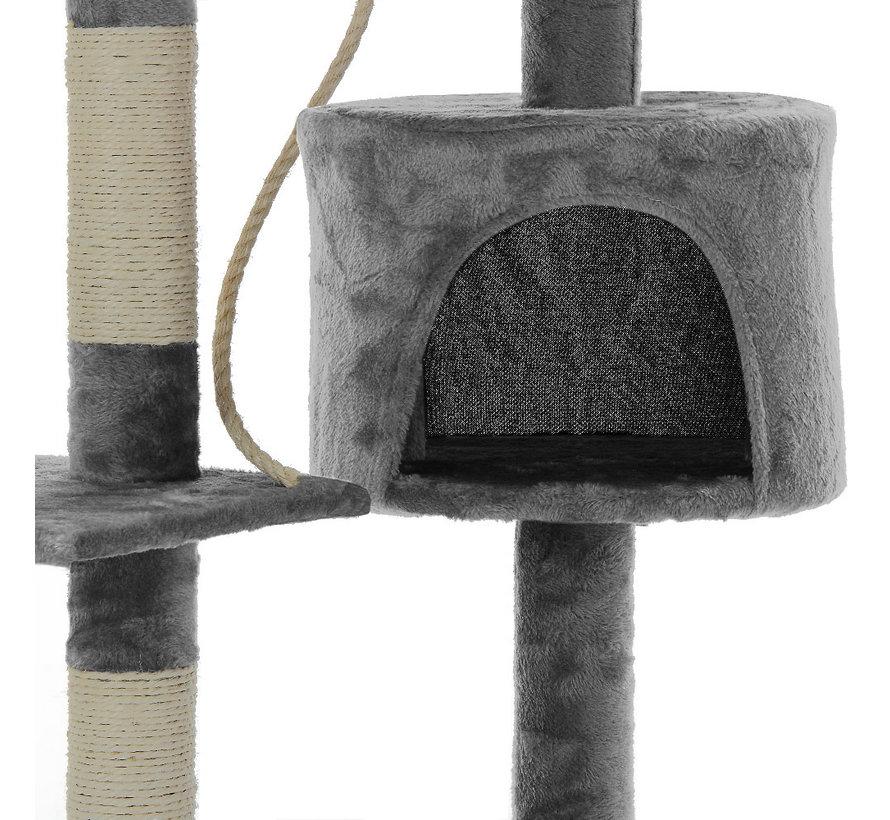 Cadoca Kattenboom met 3 kijkzones, 1 grot, 2 speelballen en touw.