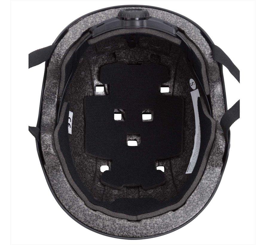 Deuba Kinder/Skaterhelm Zwart S Verstelbaar, 50-54cm