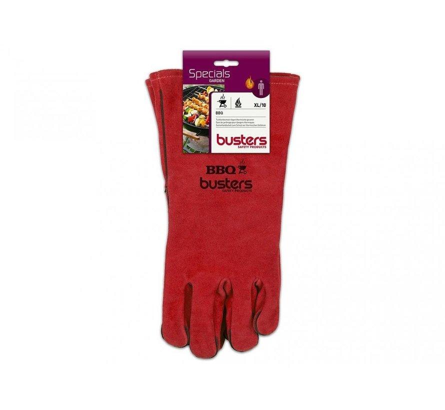 Busters Leren Barbecue handschoenen maat 10 - tot 100 C° - 35 cm