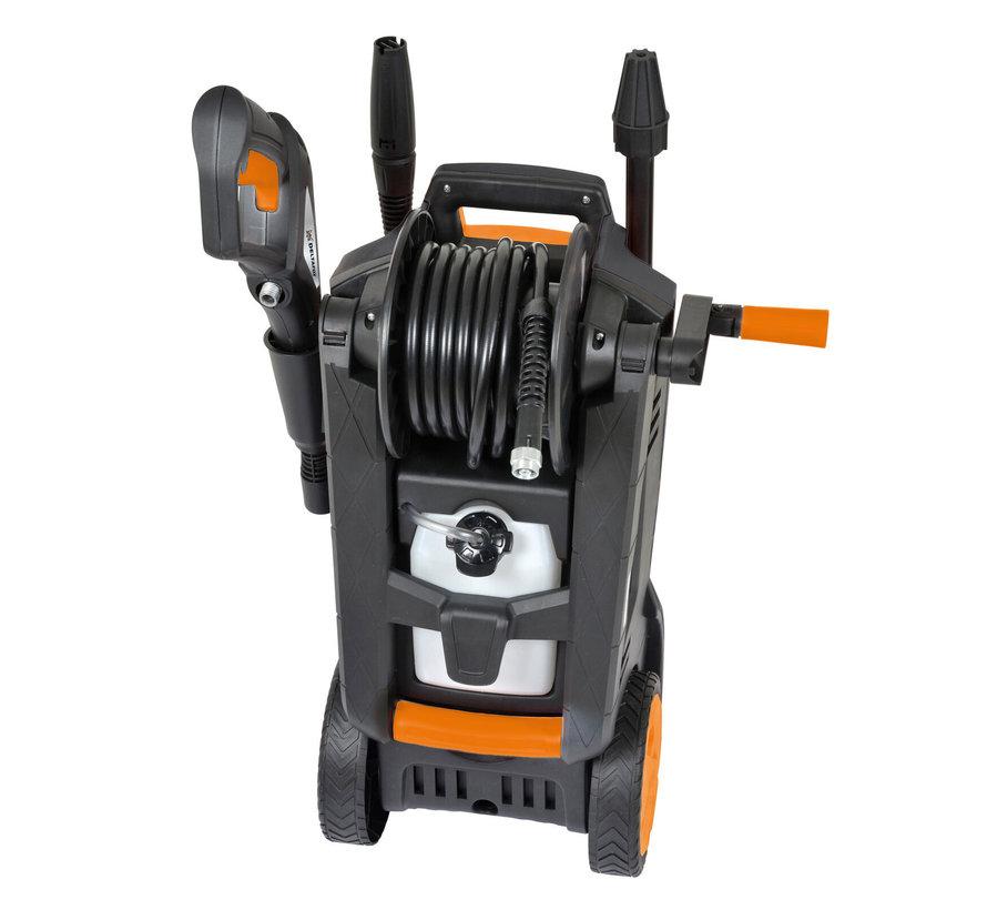 Deltafox hogedrukreiniger - 2100W - max. Druk 150 bar - 6m slang en 5m kabel - 35x33x62cm
