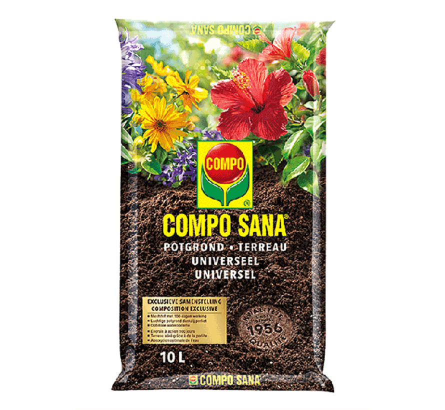 Compo Sana 10L Potgrond - Universeel - 100 dagen werking