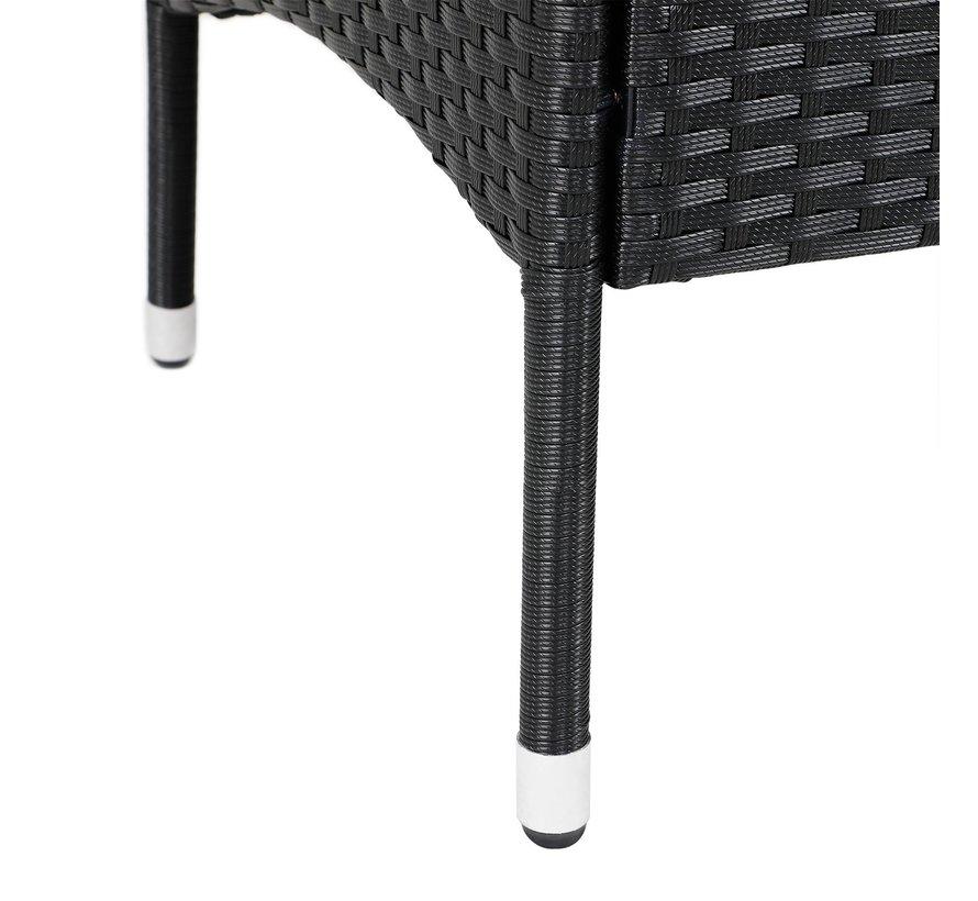 Casaria Tuinbank/ Love Bench met Opbergbox met Zitkussens 143x64x88cm - Zwart