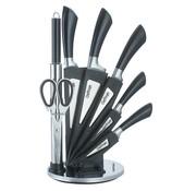 Cheffinger Cheffinger 8-delige Messenset met Standaard - Zilver/Zwart