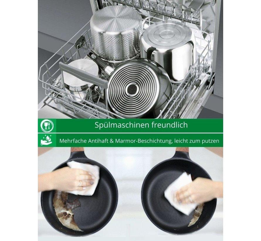 Cheffinger Kookpan/ Diepe Pan met Deksel - 24cm