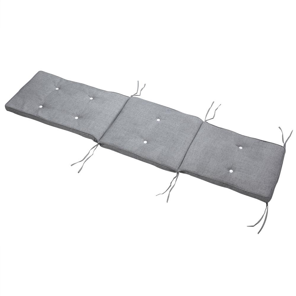 Detex Ligstoelkussen - Grijs gevlekt - 186x42x5 cm
