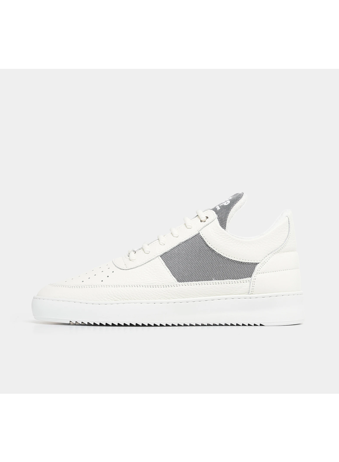 FILLING PIECES LOW TOP RIPPLE GAME WIT GRIJS