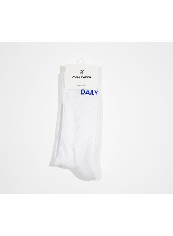 DAILY PAPER SOKKEN WIT/BLAUW