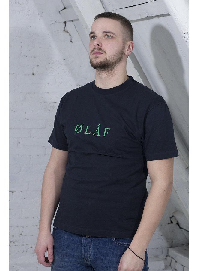 OLAF SERIF T-SHIRT MARINE