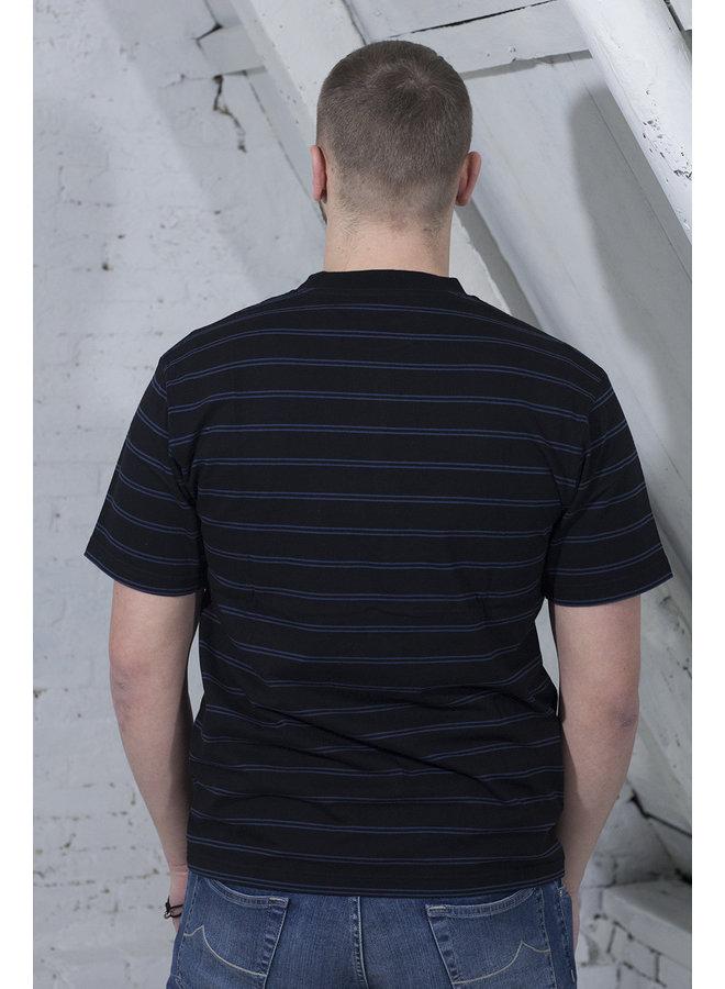 MINI STRIPE T-SHIRT ZWART/BLAUW [OH11] Mini Stripe Tee [black/blue]