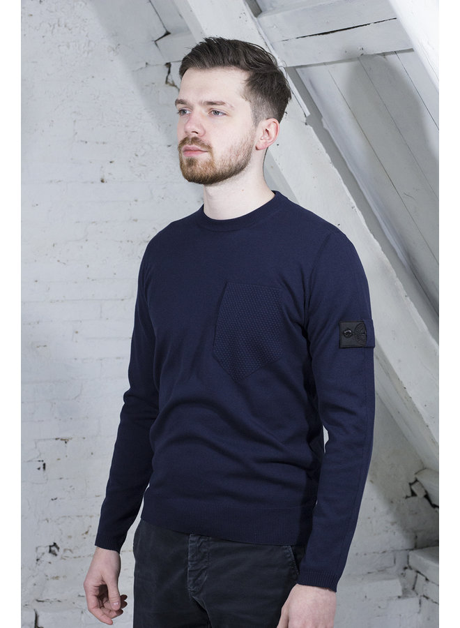 STONE ISLAND SHADOW PROJECT PULLOVER MARINE