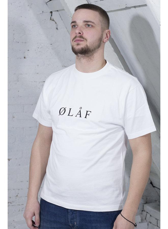 OLAF SERIF T-SHIRT WIT