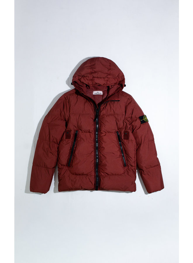 STONE ISLAND GARMENT DYED CRINKLE REPS NY DOWN JACK ROOD