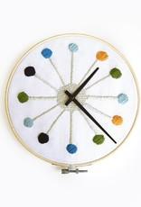 Kikkerland make your own cross stitch clock