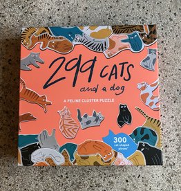 Laurens King 299 cats and one dog -  puzzle  300 pieses