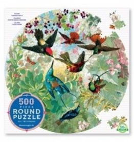 Eeboo Eeboo Hummingbirds puzzle 500 pieces ROUND